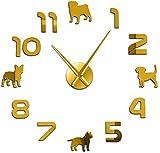 suwhao 37 Pouces Différentes Races De Chiens Chiot Chiens DIY Grande Horloge...