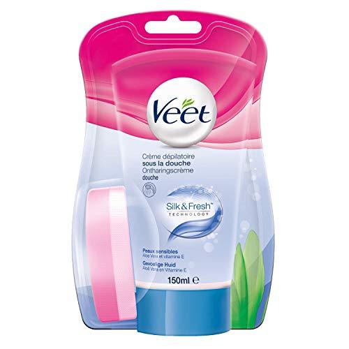 Veet Crème dépilatoire sous la douche, peaux sensibles, aloe vera & vitamine E...