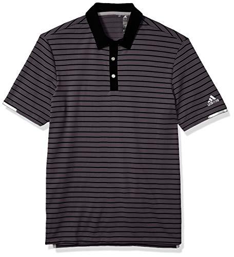 adidas Golf Heat.rdy Novelty Polo Shirt, Grey Five/Black, X-Large