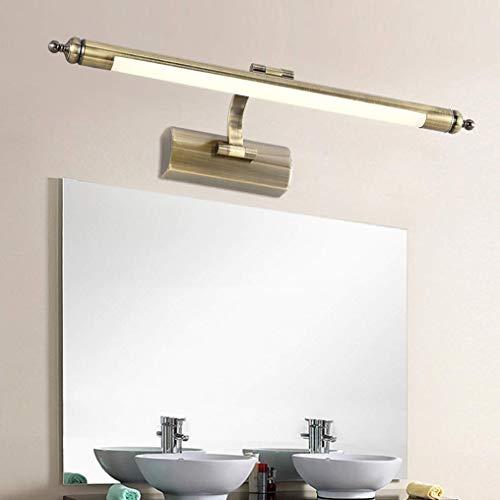 Luz de maquillaje LED Luz de espejo Retro ajustable Lámpara de espejo de baño Aleación de zinc Luces de pared vintage Espejo Iluminación de gabinete Luz de imagen Lámpara de tocador, Impermeable, Cáli