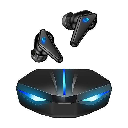 prasku Gaming Headsets Bluetooth 5.0 Auriculares Auriculares Inalámbricos Auriculares, Super Bass, Tacto Elegante