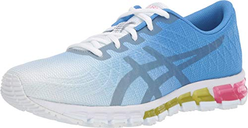 ASICS Women's Gel-Quantum 180 4 Running Shoes, 9M, White/Stone Grey