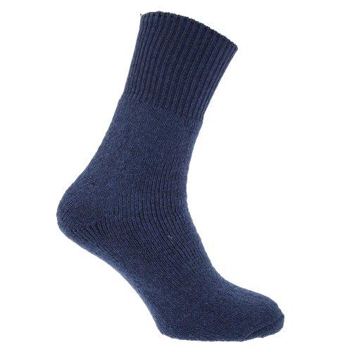 Textiles Universels Chaussettes thermiques (1 paire) - Homme (EUR 39-45) (Bleu)