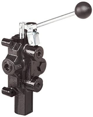 """Prince RD-2575-M4-EDA1 Directional Control Valve, Logsplitter, 4 Ways, 3 Positions Motor, 3 Position Detent, Cast Iron, 3000 psi, Lever Handle, 20 gpm, In/Out: 3/4"""" NPTF, Work 1/2"""" NPTF by Prince Manufacturing"""