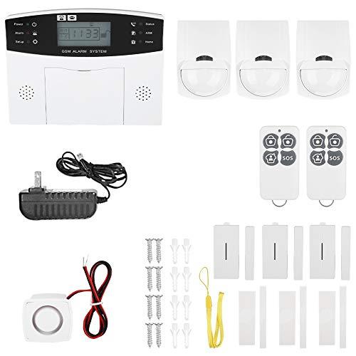 Alarma antirrobo casera, GSM inalámbrico opcional avanzado confiable automático de la(US standard 100-240V)