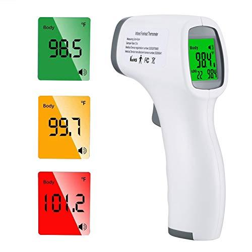 petit un compact [2020 Nouveau]Appareil de mesure de la température frontale, thermomètre infrarouge numérique sans contact…