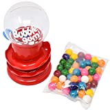 Sunny Days Entertainment Gumball Machine for Kids with Gumballs - Bubble Gum Mini Candy Dispenser | Piggy Bank for Kids - Receive Red or Yellow Machine Colors May Vary