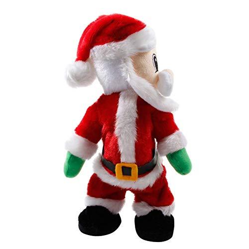 AKAMAS Elektrisches Weihnachts-Spielzeug, Weihnachtsmann, Spielzeug schüttelt, Hüfte, tanzende Musik, Geschenk für Kinder