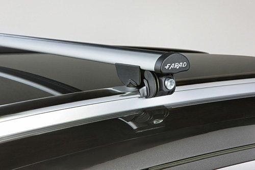 Farad PE72FF30 - Barre PORTATUTTO da Tetto per Auto in Alluminio per Veicoli con Railing O Profili INTEGRATI