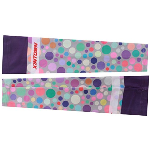 Spoz Pro Outdoor Sport Purple Bubbles Arm Sleeves S - 2