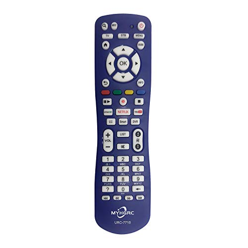 MYHGRC - Mando a distancia universal para Samsung LG Sony Sharp Philips Hisense Toshiba Hitachi ROKU Panasonic JVC RCA Smart TV – Configuración simple mando a distancia universal