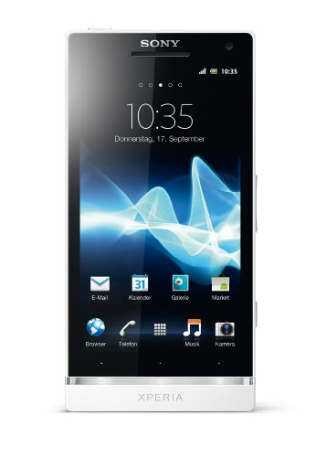 Sony Xperia S Smartphone (10,9 cm (4,3 Zoll) HD-Display, 12 Megapixel Kamera, 1,5GHz Dual-Core-Prozessor, NFC, Android 2.3) weiß
