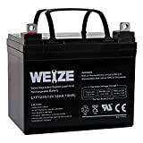 Weize 12V 35AH Rechargeable SLA Deep Cycle AGM Battery Replaces 12 Volt 33AH,...