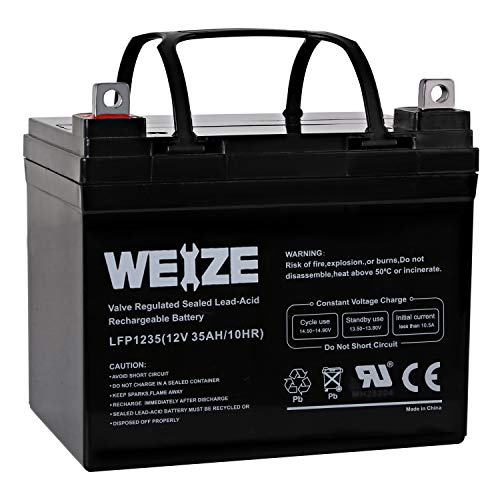 Weize 12V 35AH Battery Rechargeable SLA Deep Cycle AGM Replace 12 Volt...
