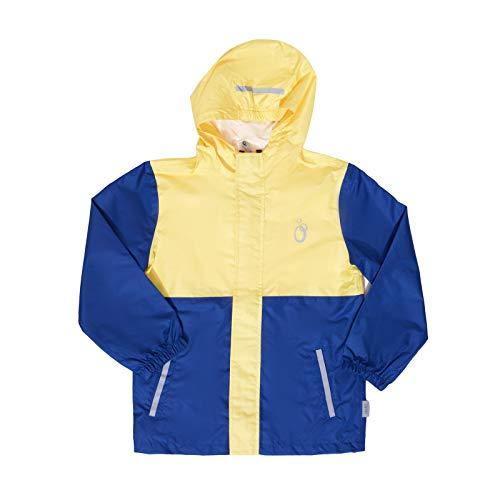 lamino Regen-Jacke Bequeme Kinder Outdoor-Jacke Freizeit-Jacke Funktions-Jacke Gelb/Blau, Größe:140