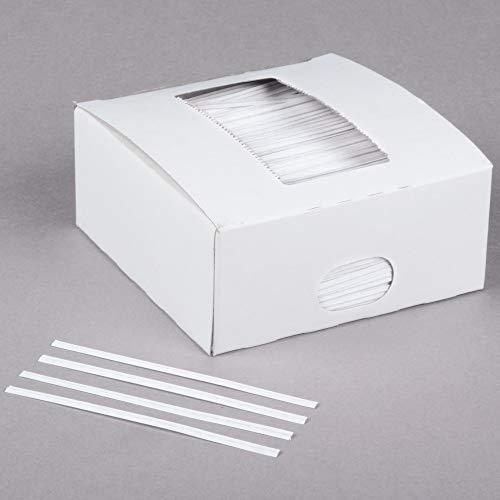 Oasis Supply, 2000 Piece 4' Laminated Paper Twist Ties, BULK with Dispenser Box (WHITE)