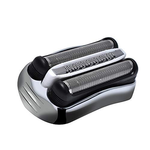 Poweka Braun - Cabezal de repuesto para maquinilla de afeitar eléctrica Braun Series 3 320S 3010S 3000S 300S 3020S 310S 3070 3080S 3020 350 340 320 350CC 370CC