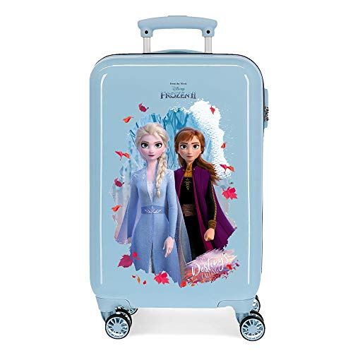 Disney Frozen In the Woods Cabin Suitcase Blue 37 x 55 x 20 cm Rigid ABS Side Combination Closure 34L 2.5 kg 4 Wheels Double Hand Luggage