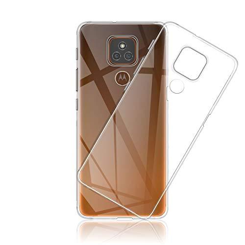 Aerku Hülle für Motorola Moto E7 Plus, [Kratzfest] [Anti-Fall] [Stoßdämpfung] Ultra-dünne TPU Silikon Gel-Abdeckung Transparent Hülle Handyhülle für Motorola Moto E7 Plus[Transparent]