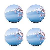 日本富士山 冷蔵庫マグネット 磁気飾り物 磁気黒板用 ビール 栓抜き ボトルオープナー 4点セット丸型 多機能