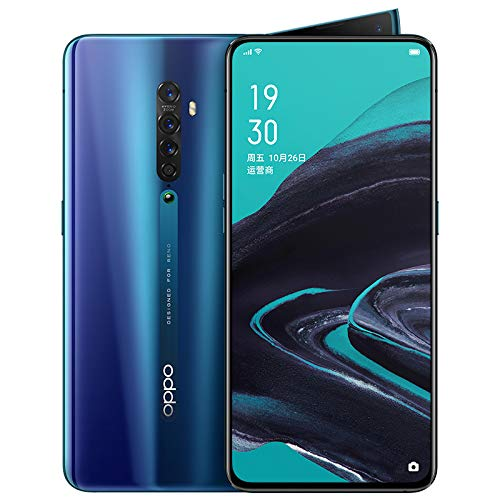 Original Oppo Reno 2 8GB+128GB Mobile Phone Snapdragon 730G Octa Core NFC 48MP Camera VOOC 3.0 AMOLED Screen Fingerprint 5X Zoom OIS Support Google by-(Real Star Technology) (Bright Blue)