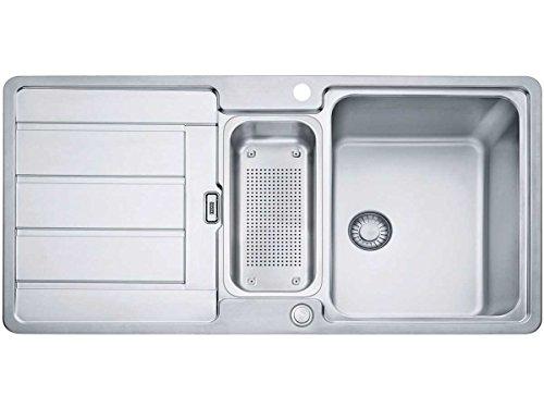 Franke Hydros HDX 254 Edelstahlspüle glatt Spülbecken Küchen-Spüle Flächenbündig
