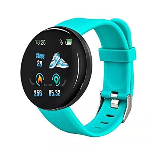 Inteligente Venda de Reloj del Reloj de la Aptitud Impermeable Uso Inteligente del Reloj Multi Elegante D18 Rastreador Reloj Redondo Heart Rate Measure Hombres Mujeres Niños Verde