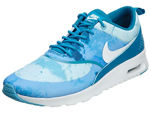 Nike Womens air max thea Print Running Trainers 599408 Sneakers Shoes (UK 7 US 9.5 EU 41, Light Blue Lacquer White Clear Water 401)