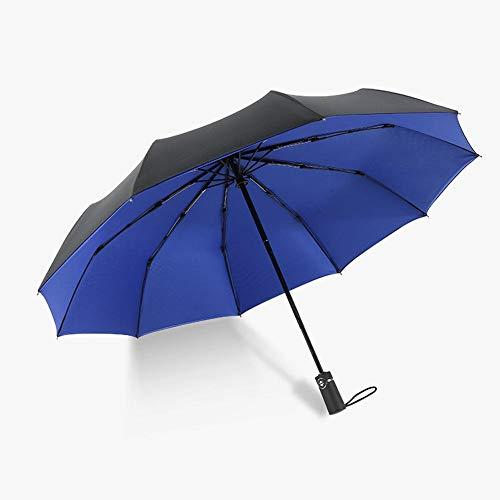 ASDMRQ paraguas, paraguas plegable automático de doble capa, paraguas de hombre y mujer a prueba de viento, paraguas de negocios de los hombres
