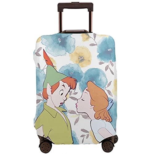 Copertura per bagagli lavabile valigia protettiva antigraffio copertura valigia Pe-Ter P-An adorabile ragazzo e ragazza adatta a 45,5 cm -72 cm bagagli caso, multicolore, XL