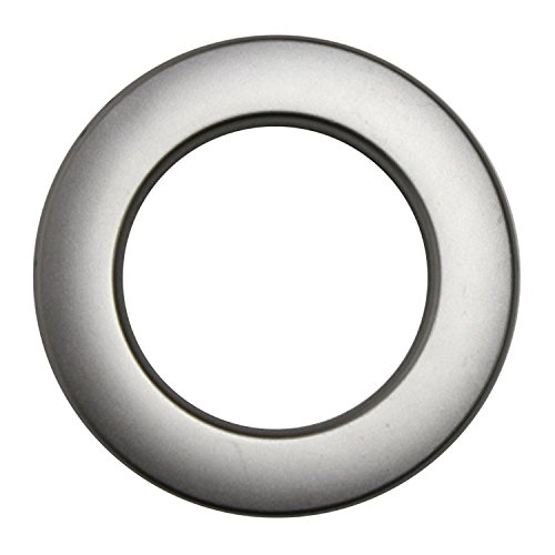 Stoffösen für 40mm Stoffloch - Hightech Kunststoff - Made in Germany - verschiedene Farben - Premium Qualität - Auch für dicke Stoffe geeignet - 10 Stück - Farbe Edelstahl