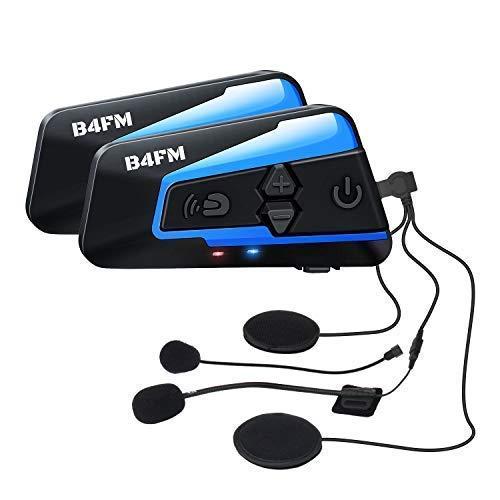 LX-B4FM バイク インカム 4riders 4人同時通話 FMラジオ Bluetoothインターコム 最大1600m スマホ音楽再生 Siri/S-voice IP67防水 無線機バイク いんかむ 連続15時間の長時間通話 インカムバイク 2種類マイク 日本語取扱 2機セット