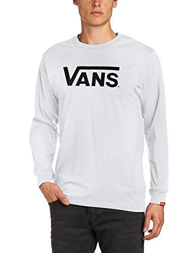 Vans Herren Classic Ls Langarmshirt, Weiß (White/black), Small