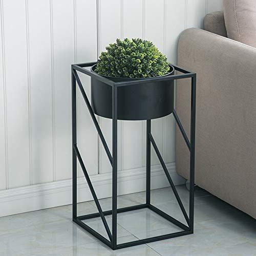 GWM Support de Fleurs, Support de Fleurs en métal, Etagère Ronde en bonsaï, Support pour Pot de décoration de Balcon intérieur, Or + 60 × 32 × 32 cm (Couleur : Noir)