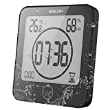 Orologio Bagno, Orologio Digitale LCD Impermeabile Umidità Della Temperatura, Controllo T...