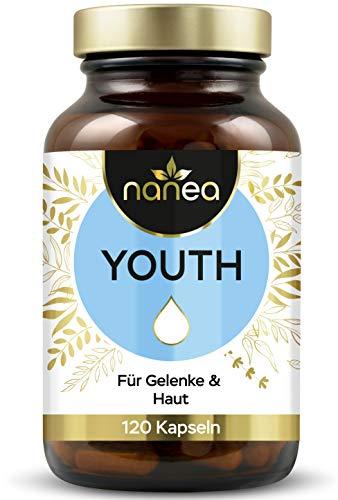 Nanea Youth | Hyaluronsäure und Kollagen | hochdosiert für Gelenke und Haut | Hyaluron-Kollagen-Komplex | Ohne Füllstoffe | Made in Germany