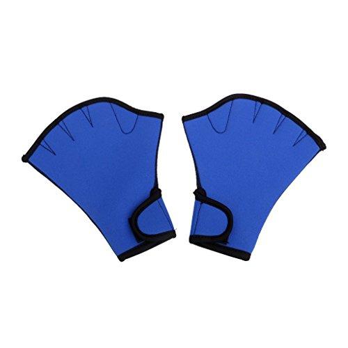 NaiCasy 1 Par Guantes acuáticas Guantes de Buceo palmeados Guantes Guantes de Entrenamiento de natación Fitness acuático Resistencia al Agua Azul Deportes al Aire Libre Accesorios