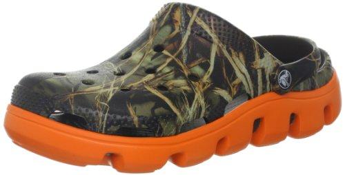 Crocs メンズ デュエット スポーツ リアルツリー クロッグ, チョコレート/オレンジ, 7