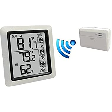 Ambient Weather WS-0270 Wireless Min/Max Outdoor Thermometer with Indoor Humidity