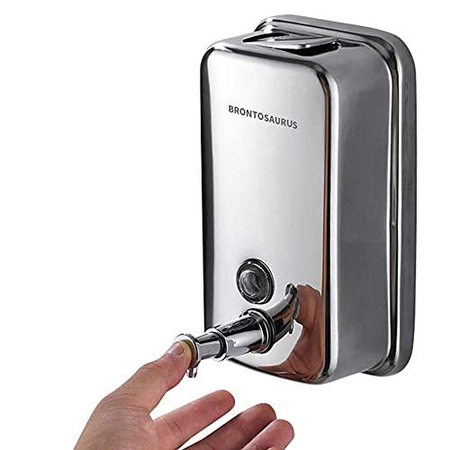 Soap Dispenser Wall-Mounted 304 Stainless Steel Hand sanitizer soap Dispenser, Brontosaurus Commercial Bathroom and Kitchen soap Dispenser, 1000 ml/34 oz (1000ML)