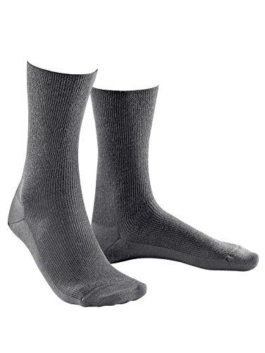 Weissbach Socken »Elite« ohne einschneidenden Gummibund mittelgrau