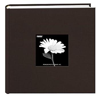 Fabric Frame Cover Photo Album 200 Pockets Hold 4x6 Photos Chocolate Brown