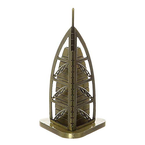Superpower Dubai Burj Al Arabisches Modell, Bronze, 16 cm, Metall-Skulptur, berühmtes Gebäude, Sammlerstück, für personalisierte Geschenke, Schlafzimmer, Tischplatte, Heimdekoration, Souvenir