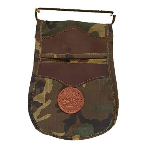 CAZA Y AVENTURA Una Bolsa de ojeo-Bolsa portacartuchos, en Cordura Lona Camuflaje. para Llevar en el cinturón.para 50 Cartuchos