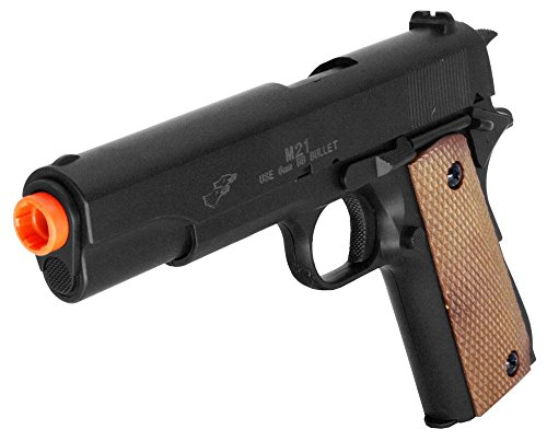 Double Eagle M21 M1911 Military Style Spring Airsoft Pistol M21 270 FPS Spring Handgun