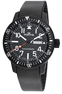 Fortis Men's 647.28.71K B-42 Black Automatic Black Dial Watch Reviews and Reviews and review