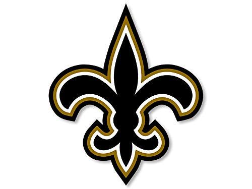 Black & Gold Fleur De Lis Shaped Sticker (New Orleans nola Saints dat who)