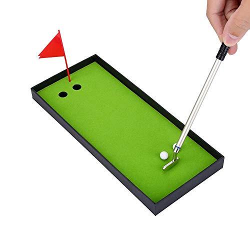Golfschläger Golfschläger Mini Desktop Golf Set Geschenkset mit grüner Flagge 3 Farben Metall Golfschläger Modelle Kugelschreiber 2 Bälle Deko für Golferliebhaber