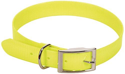 CHAPUIS SELLERIE SLA372 Collar Fluorescente de Perro - Correa de PVC Amarillo - Ancho 25 mm, Largo 55 cm, Talla L