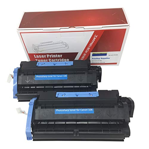 2 Compatible Cannon imageCLASS MF6500 Black Printing Ink Toner Cartridge Replacement for Canon 1O6 for Image-Class MF-6500 Series 106 All-in-one AIO Multifunction Mono Laser Printer